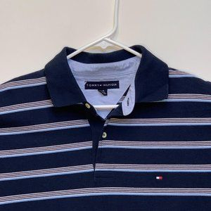 Tommy Hilfiger Mens Striped Multicolor Polo Large